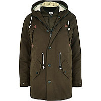 Green Bellfield 2-in-1 parka jacket