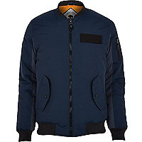 Navy Bellfield bomber jacket
