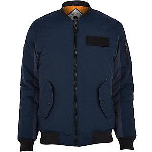 Navy Bellfield bomber jacket