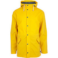 Yellow Bellfield hooded rain mac