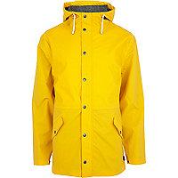 Yellow Bellfield hooded rain mac