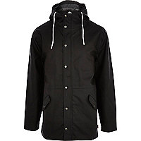 Black Bellfield hooded rain mac