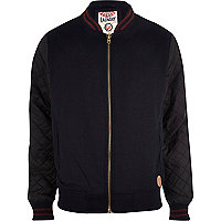 Navy Tokyo Laundry quilted bomber jacket