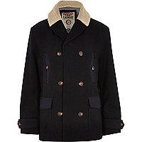 Navy Tokyo Laundry shearling coat