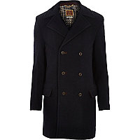 Navy Holloway Road woolen coat