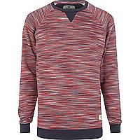 Dark red Bellfield space dye sweatshirt