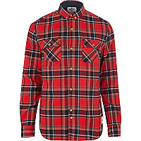 Red Bellfield check long sleeve shirt