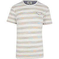 Ecru Bellfield space dye stripe t-shirt