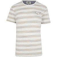 Ecru Bellfield space dye stripe t-shirt