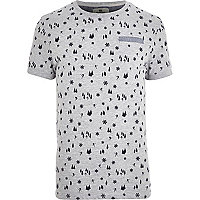 Grey Bellfield ski print t-shirt