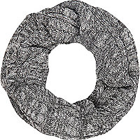 Grey twist knit snood