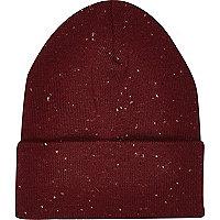Dark red neppy beanie hat