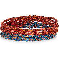 Orange and blue friendship bracelets pack