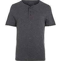 Dark grey grandad t-shirt