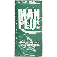 Novelty man flu tissues