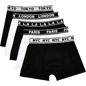 Black cities boxer shorts pack