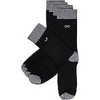 Black gentlemans socks pack