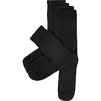 Charcoal plain socks pack