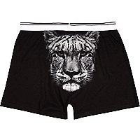 Black Tiger back print boxer shorts
