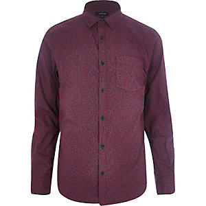 Burdungy ditsy print long sleeve shirt