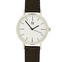 Black classic white face watch