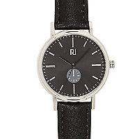 Black classic grey face watch