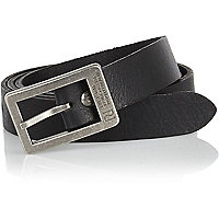 Black engraved detail belt
