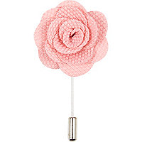 Pale pink flower lapel pin