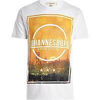 White Johannesburg front print t-shirt