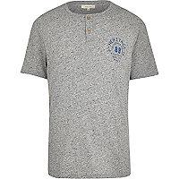 Grey heritage 88 print t-shirt