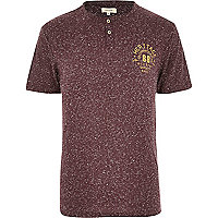 Red speckled heritage 88 print t-shirt