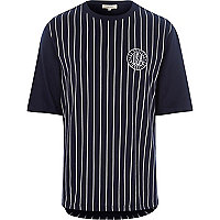 Navy stripe baseball t-shirt