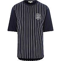 Navy stripe baseball t-shirt