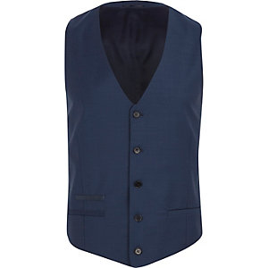 Blue slim vest