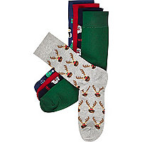 Mixed Christmas socks pack