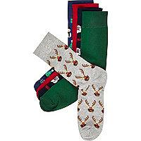 Mixed Christmas socks pack