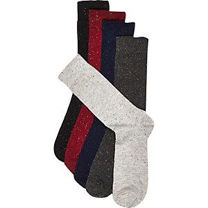 Navy neppy socks pack