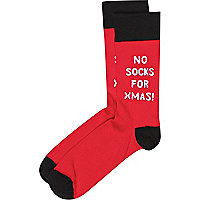 Red novelty Christmas socks