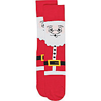 Red santa Christmas socks