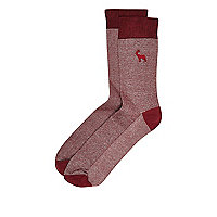 Red deer socks