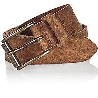 Brown worn leather belt