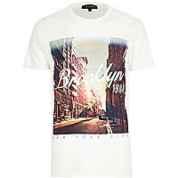 White Brooklyn 1984 t-shirt