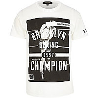 White Brooklyn boxing champion t-shirt