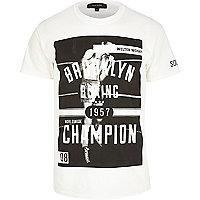 White Brooklyn boxing champion t-shirt