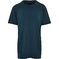 Turquoise longer length t-shirt