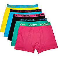 Mixed printed waistband boxer shorts pack