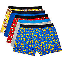 Mixed food print boxer shorts pack