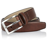 Brown feathered edge belt