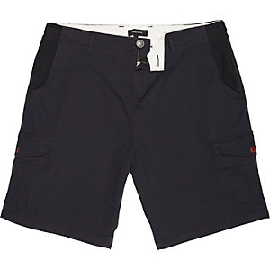 Navy cotton cargo shorts