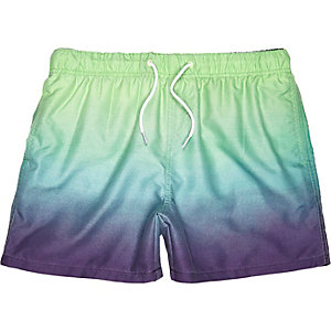 Aqua dip dye swim shorts
